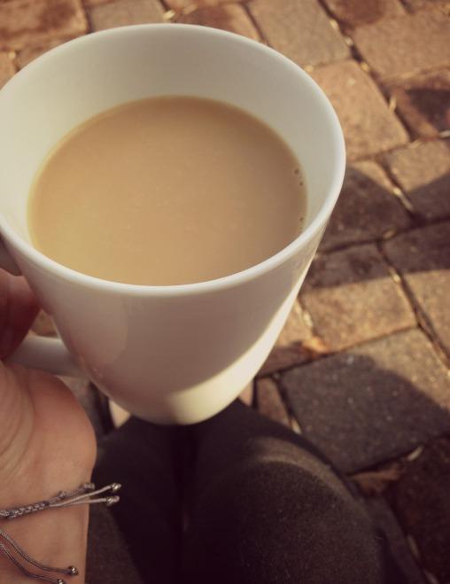 drinkingcoffeeoutside